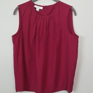 Dressbarn Red Sleeveless Top